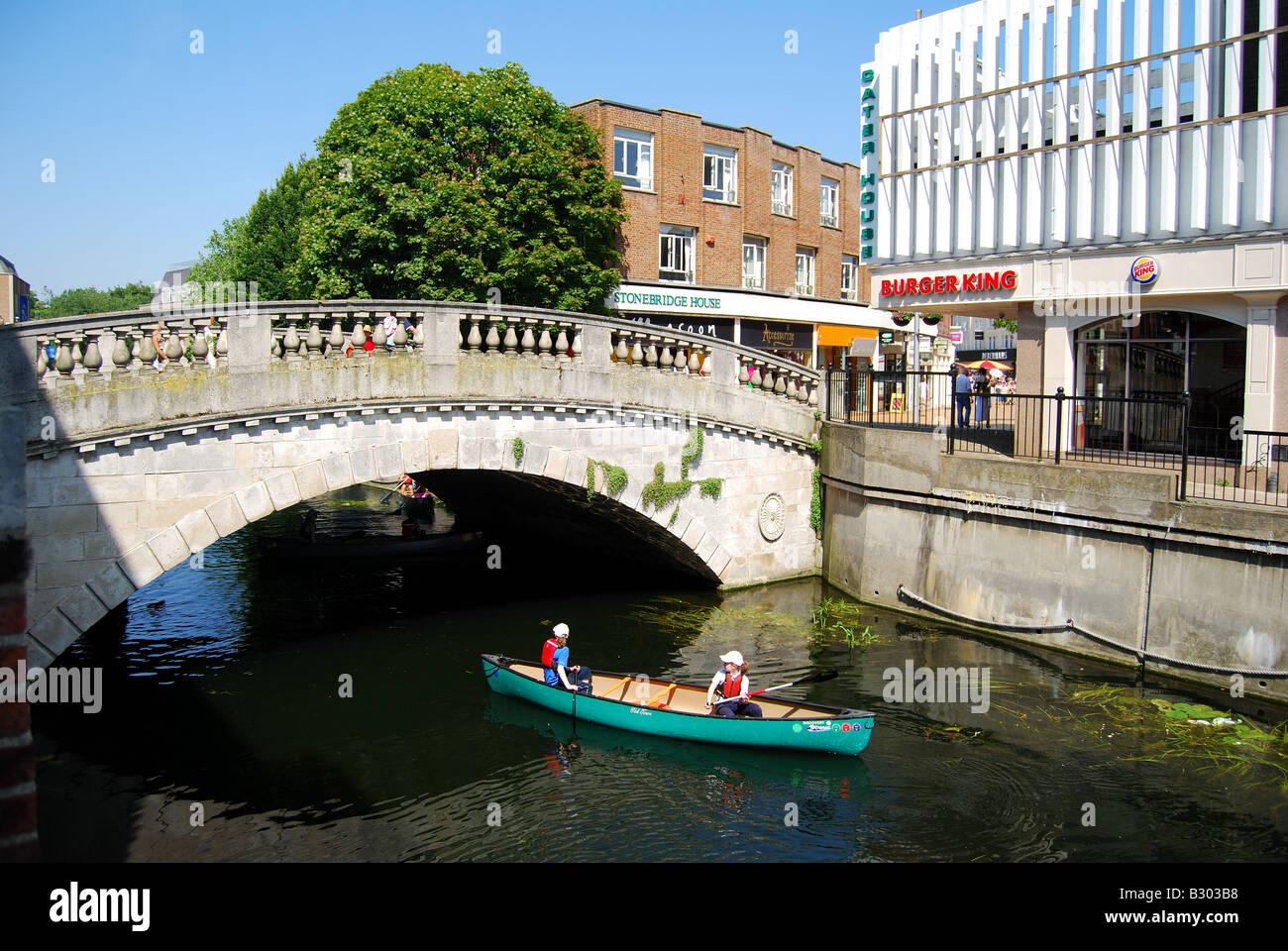 Stone Bridge over River Cam High Street Chelmsford Essex England