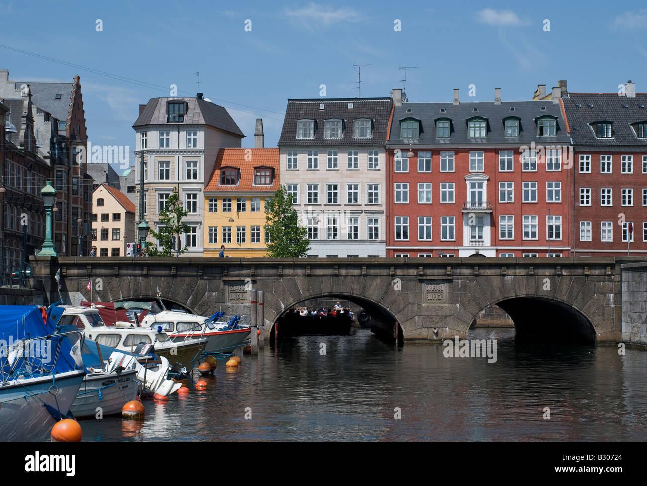Vindebrogade Frederiksholms kanal canal Copenhagen - Stock Image
