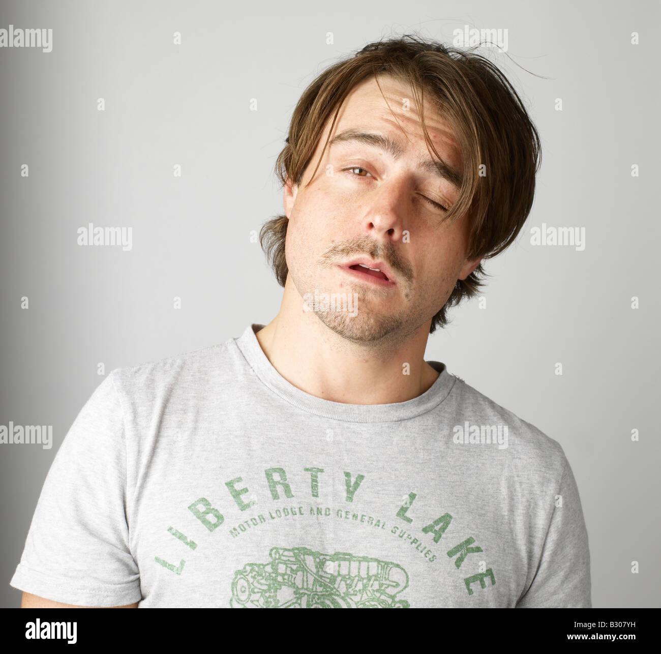 Tired man - Stock Image