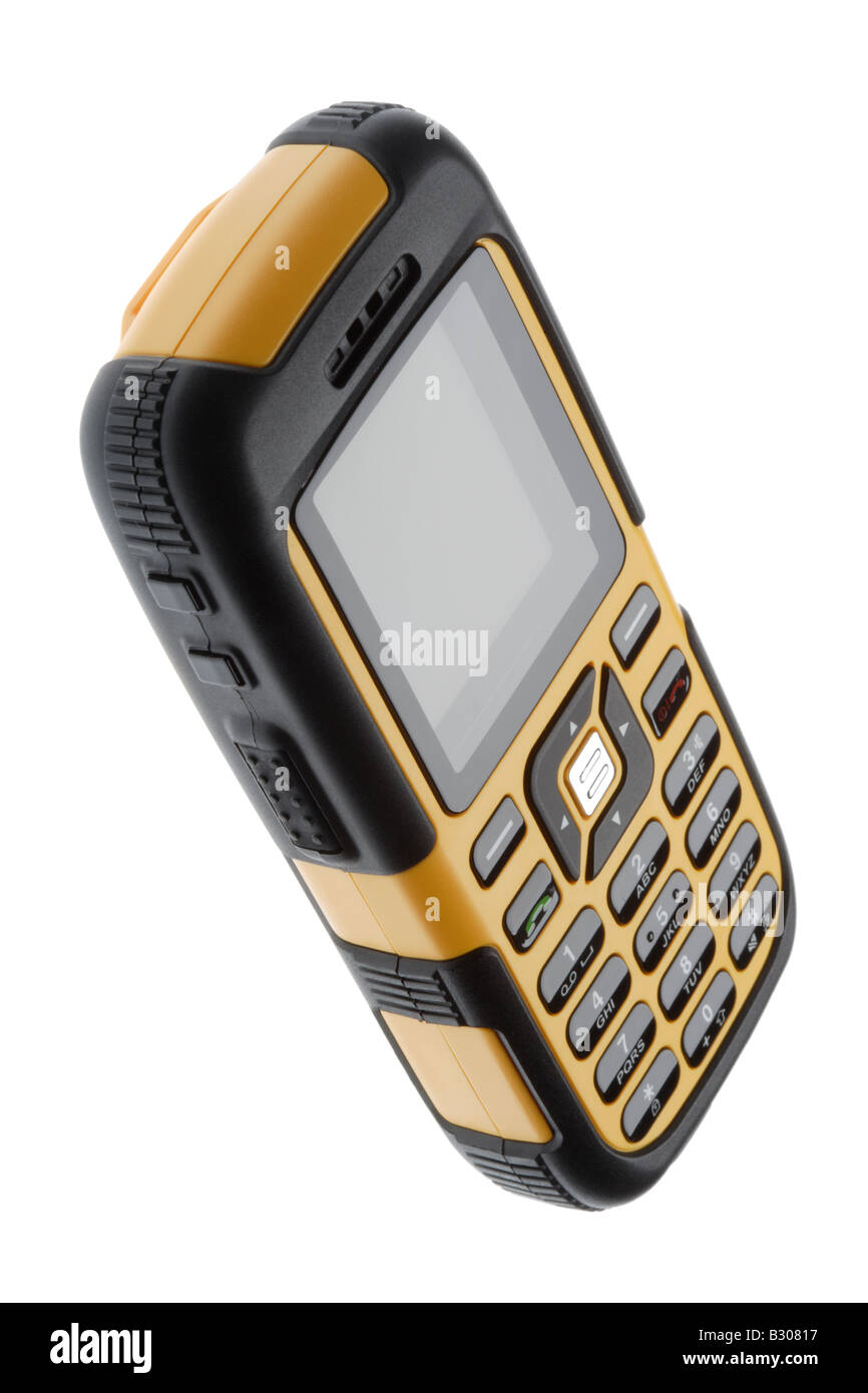 Tough mobile telephone - Stock Image