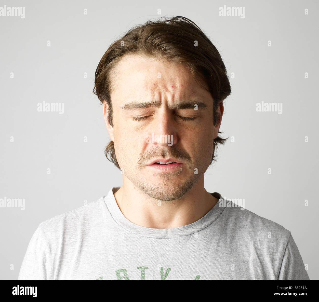 unhappy man - Stock Image