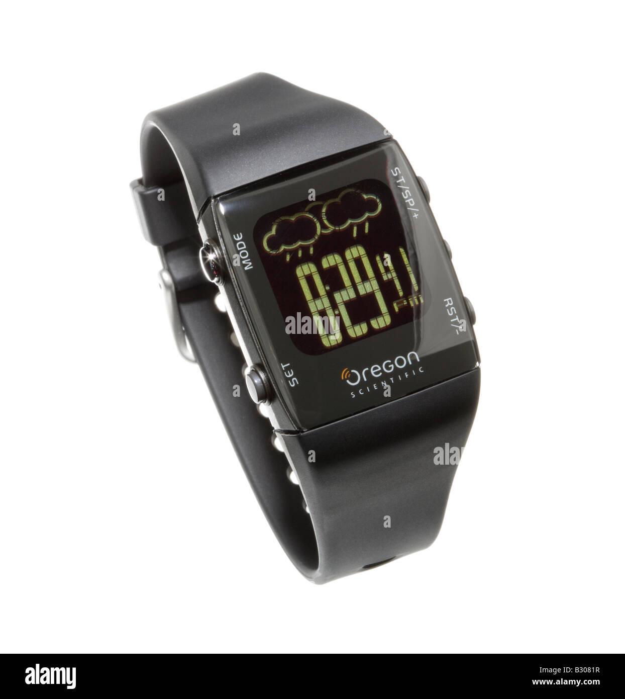 Weather forecast wrist watch - Stock Image