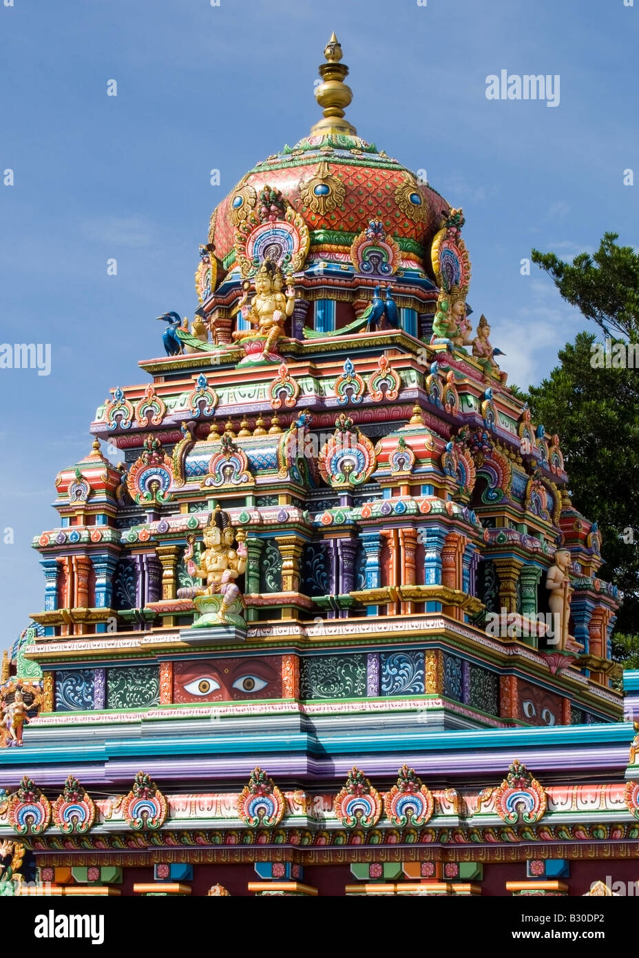 Elaborate pyramid of Sri Siva Subramanya Swamy Temple, Nadi, Fiji - Stock Image
