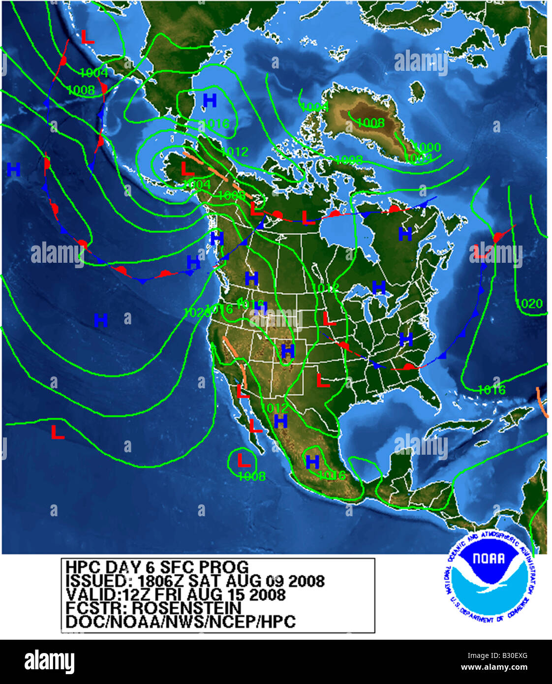 weather map North America Stock Photo: 19066056   Alamy