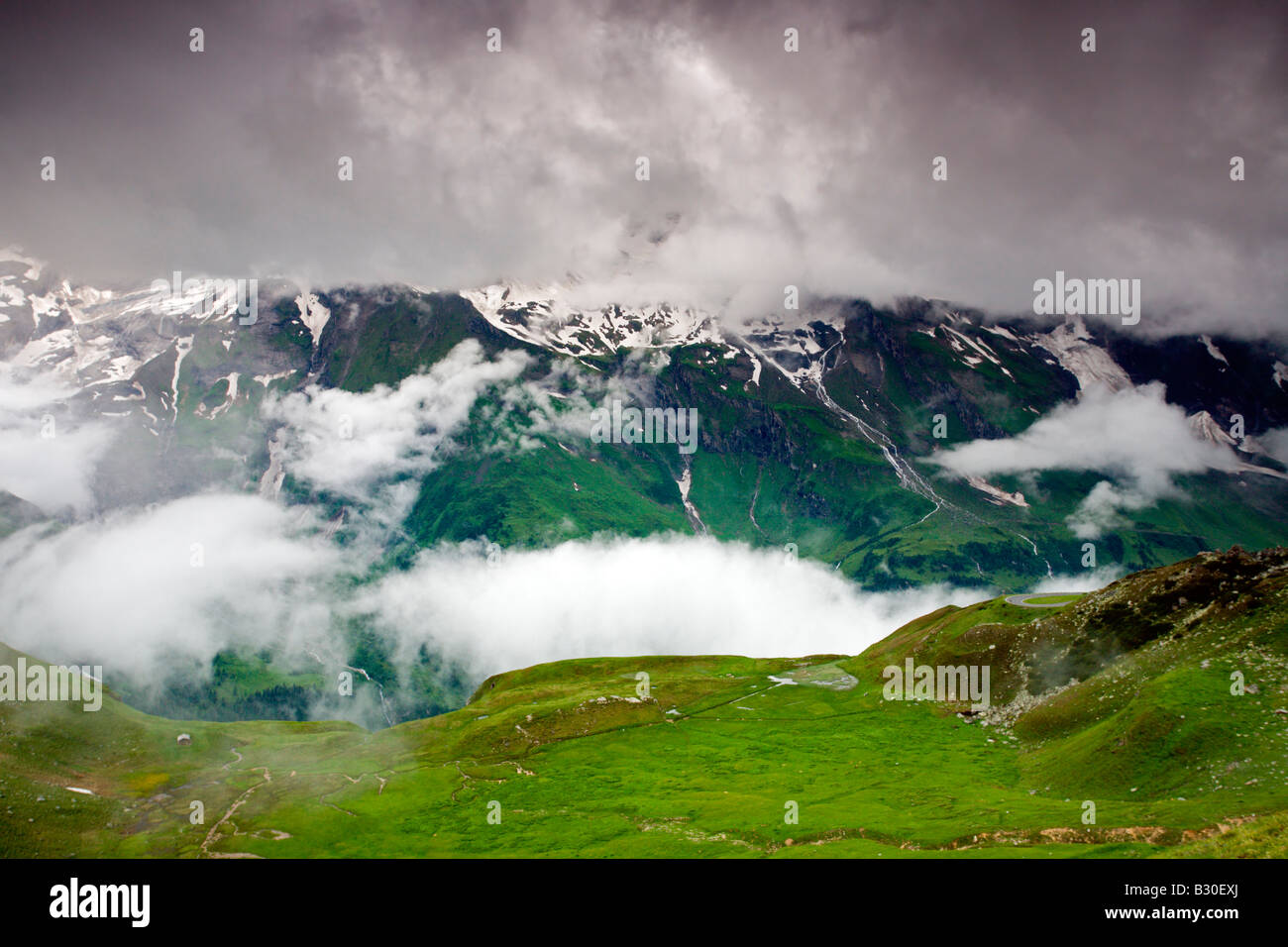 Hohe Tauern National Park: Grossglockner Road: Scenic View Stock Photo