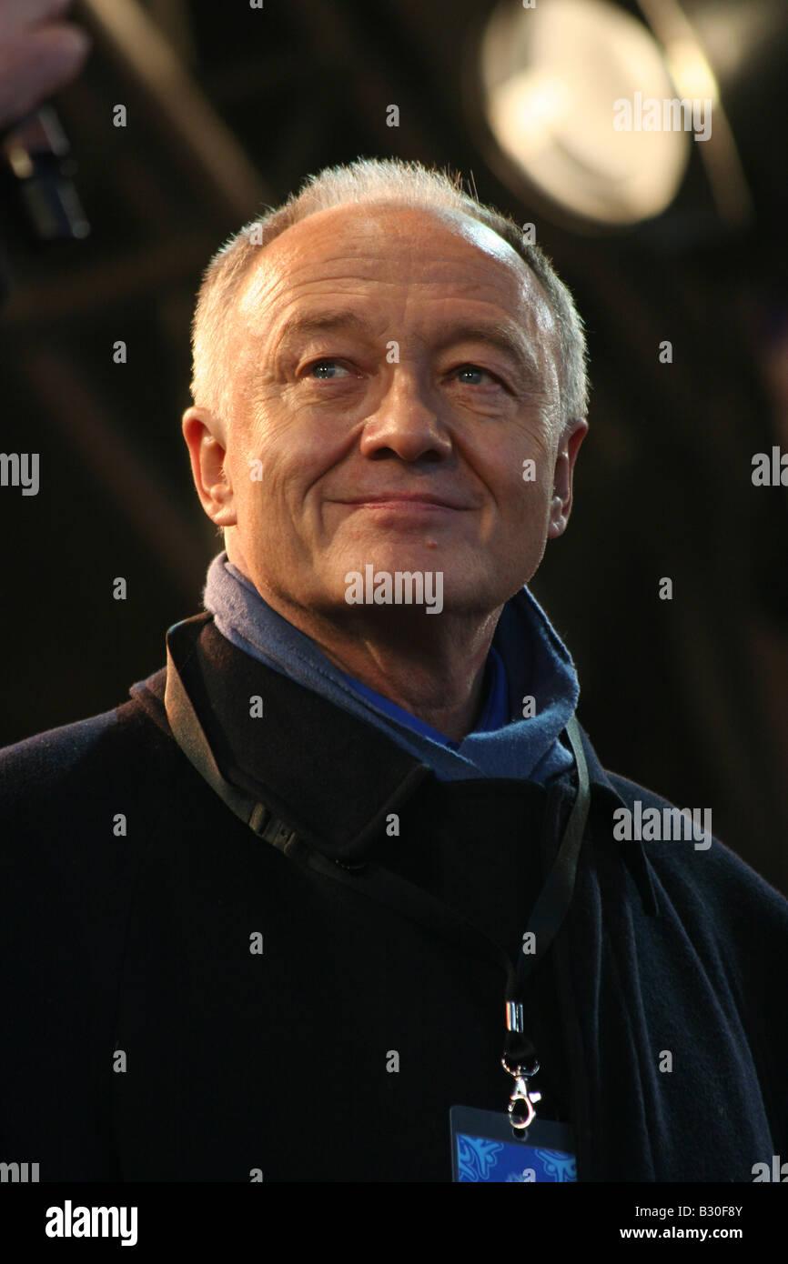 Ken Livingstone at Russian Winter Festival 2008 - Stock Image