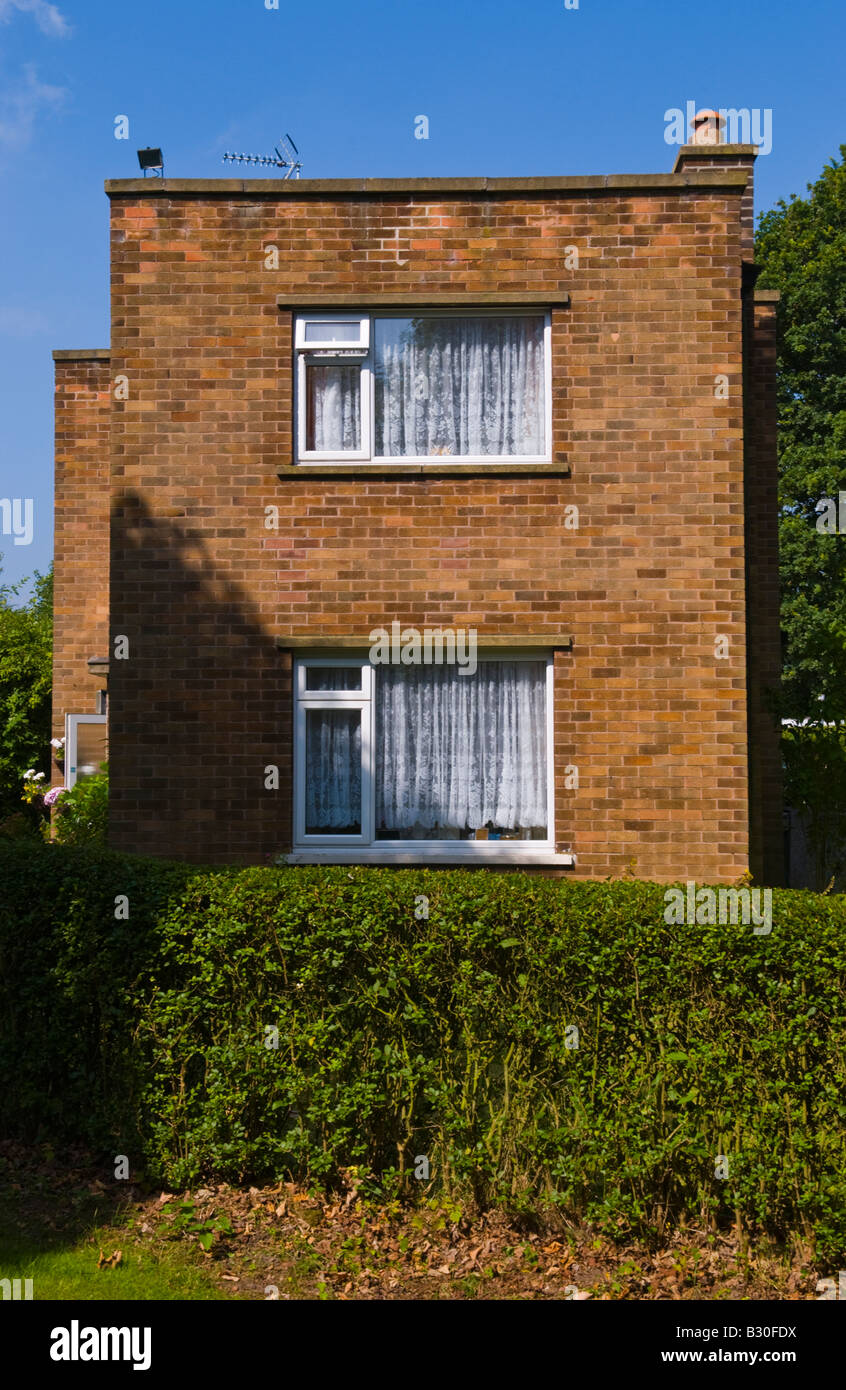 Detached house built in 1940s in rural Rufford Nottinghamshire England UK EU Stock Photo