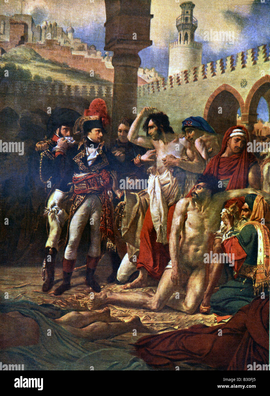 Napoleon and Plague Victims Stock Photo