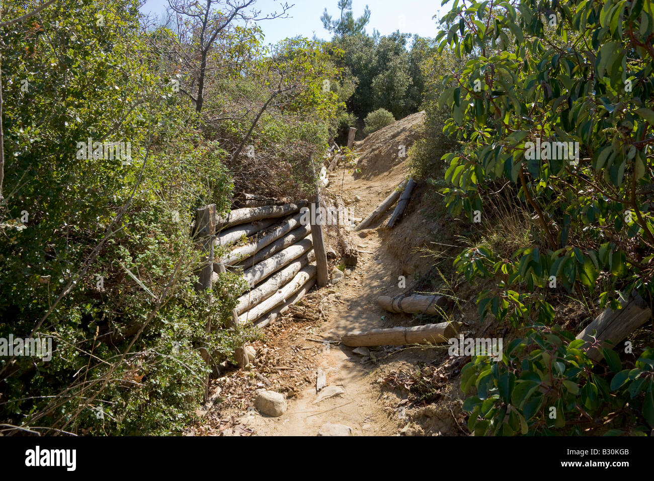 Trenches Gallipoli Canakkale Turkey - Stock Image