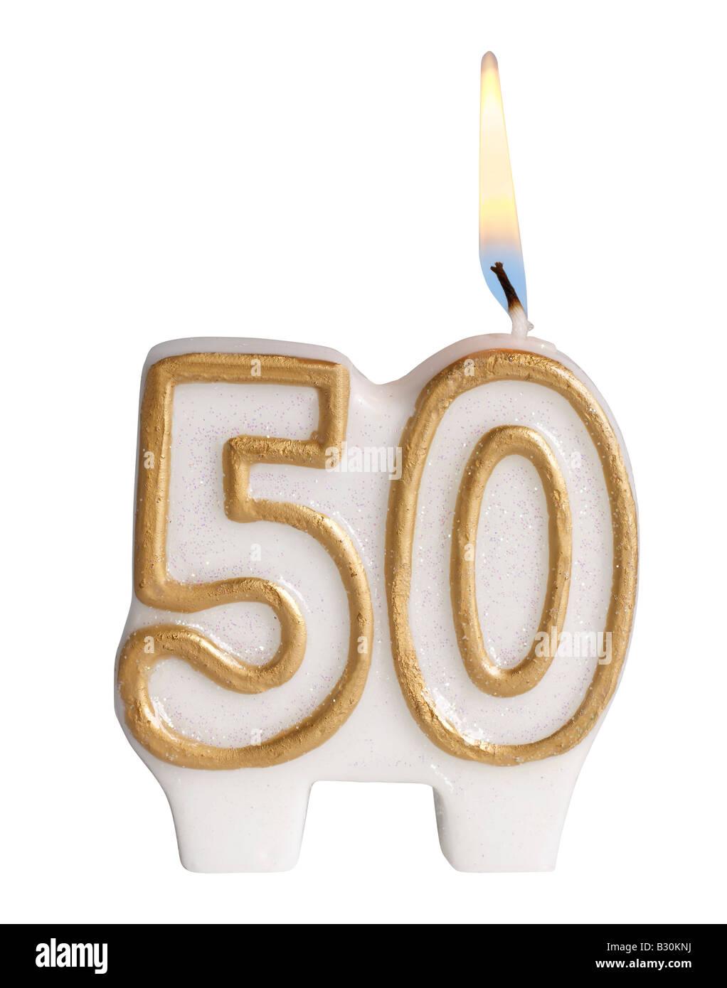 50th Birthday Candles Stock Photos