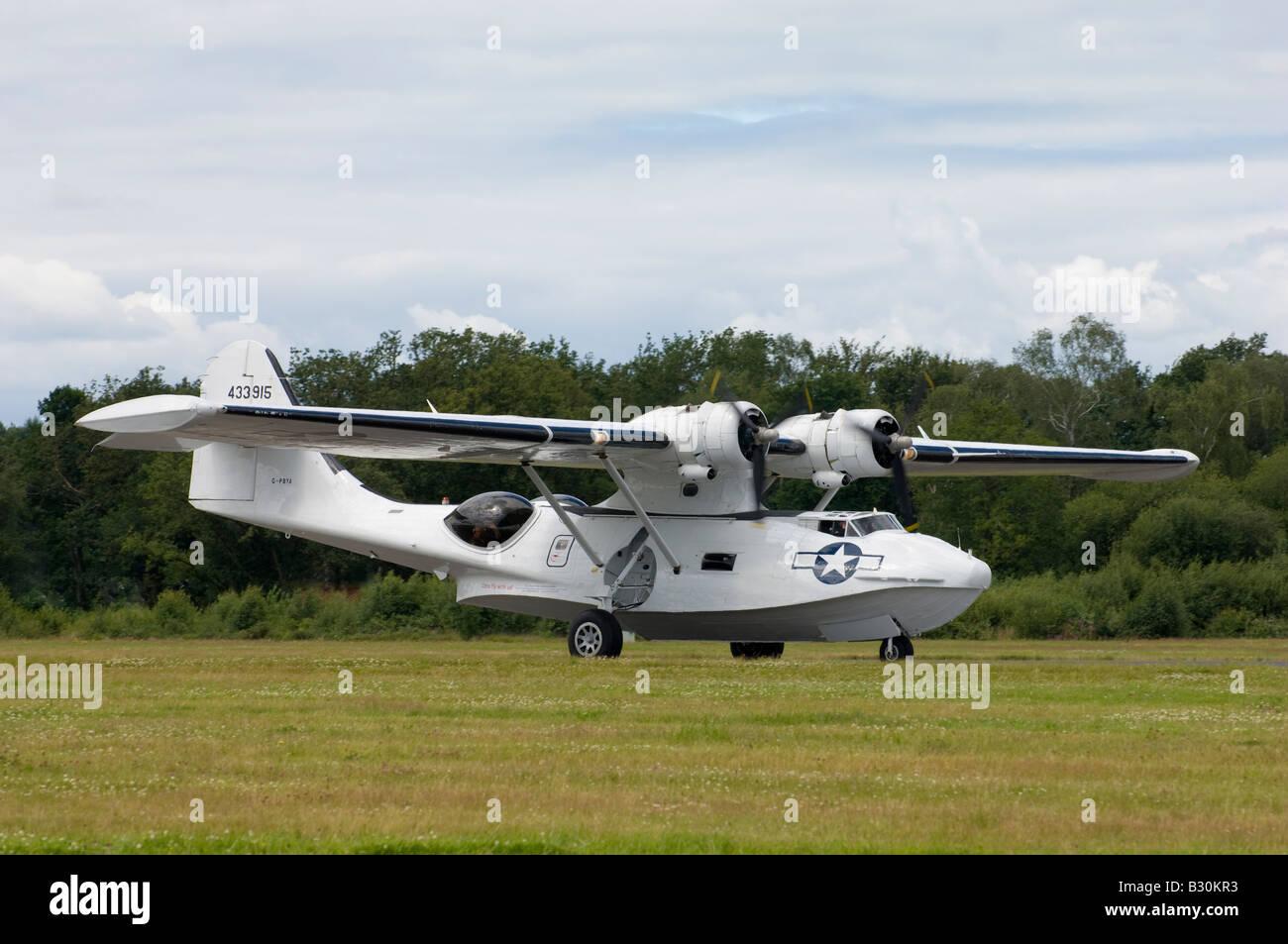 A PBY Catalina seaplane - Stock Image