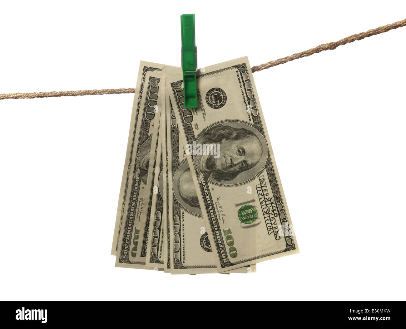 Money laundering Concept about illegally earned money - Stock Image