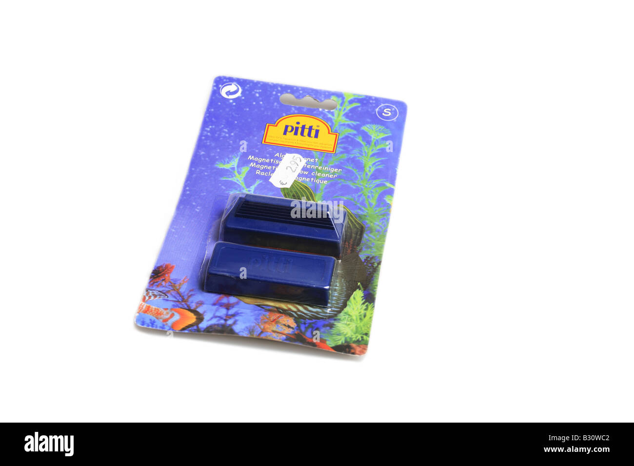 magnet for cleaning fish tank windows Stock Photo