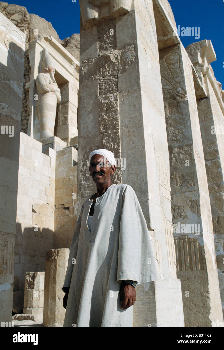 Temple of Queen Hapshetsut, West Bank, Luxor, Egypt - Stock Image