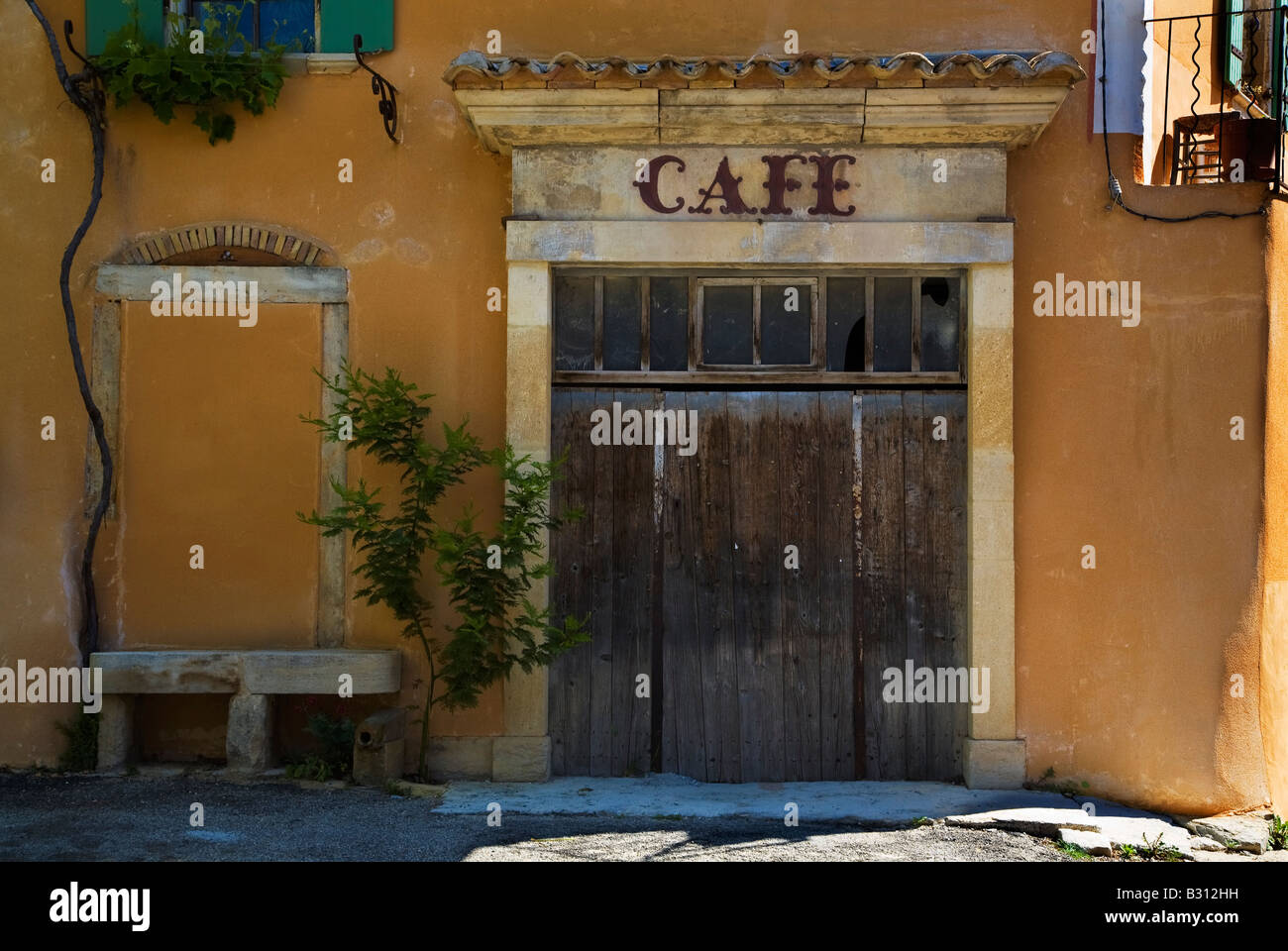 Old Cafe, Rousset des Vignes, Provence, France - Stock Image
