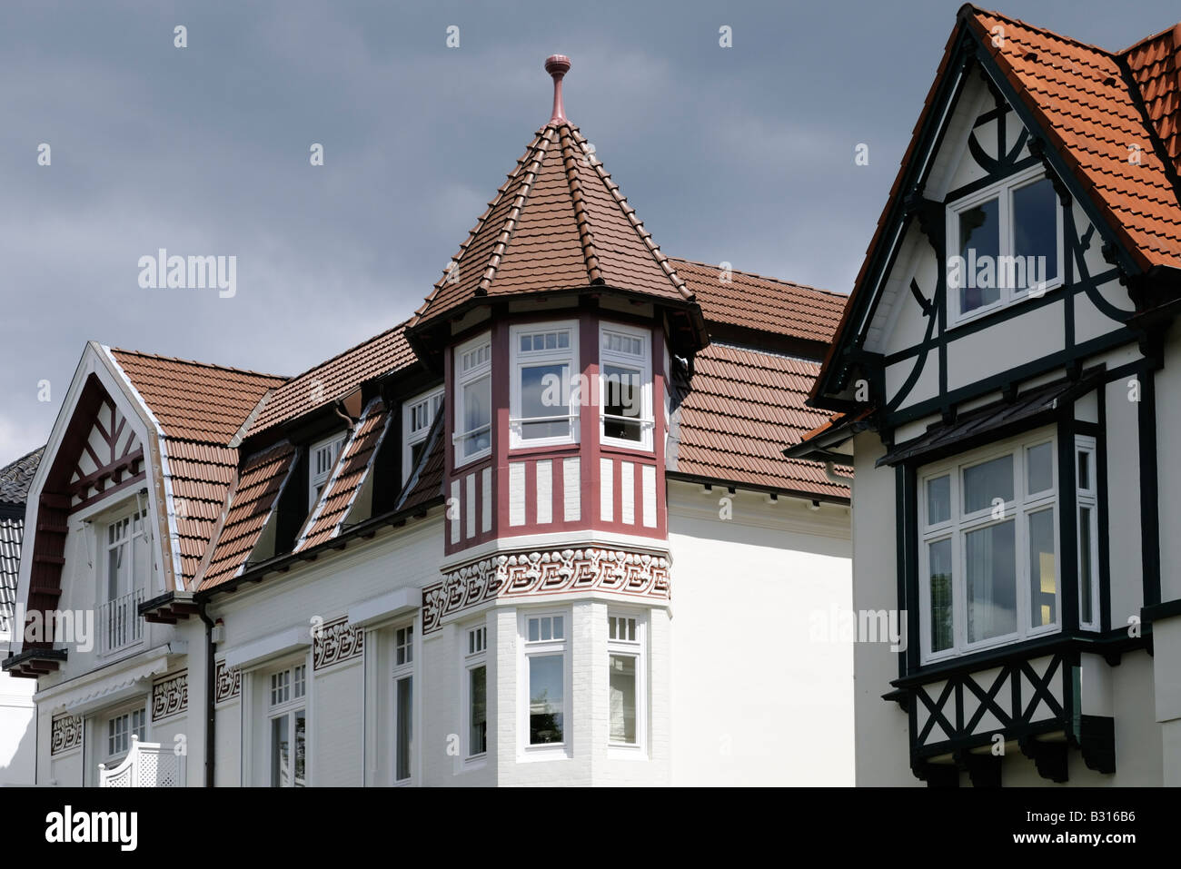 Außenansicht einer Villa in Hamburg Deutschland Exterior view of a villa in Hamburg Germany - Stock Image