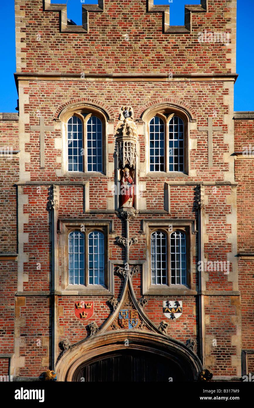 Front entrance Jesus College University of Cambridge City Cambridgeshire England Britain UK - Stock Image