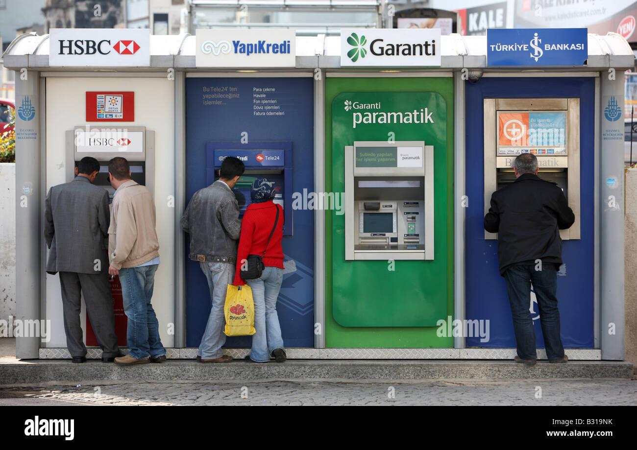 TUR Turkey Istanbul cash machines Stock Photo