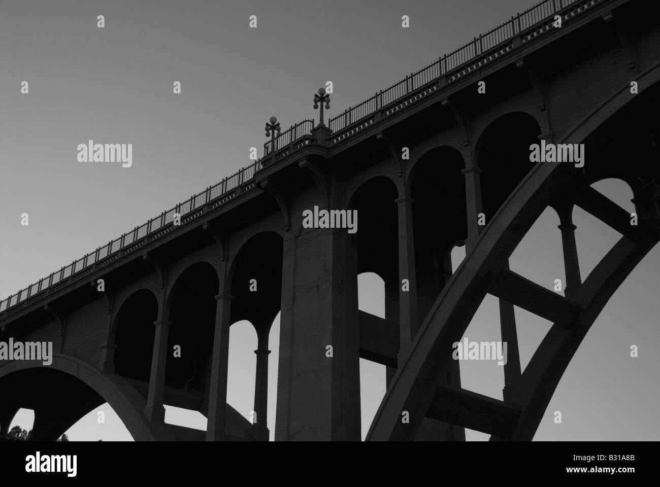View from below of bridge - Stock Image