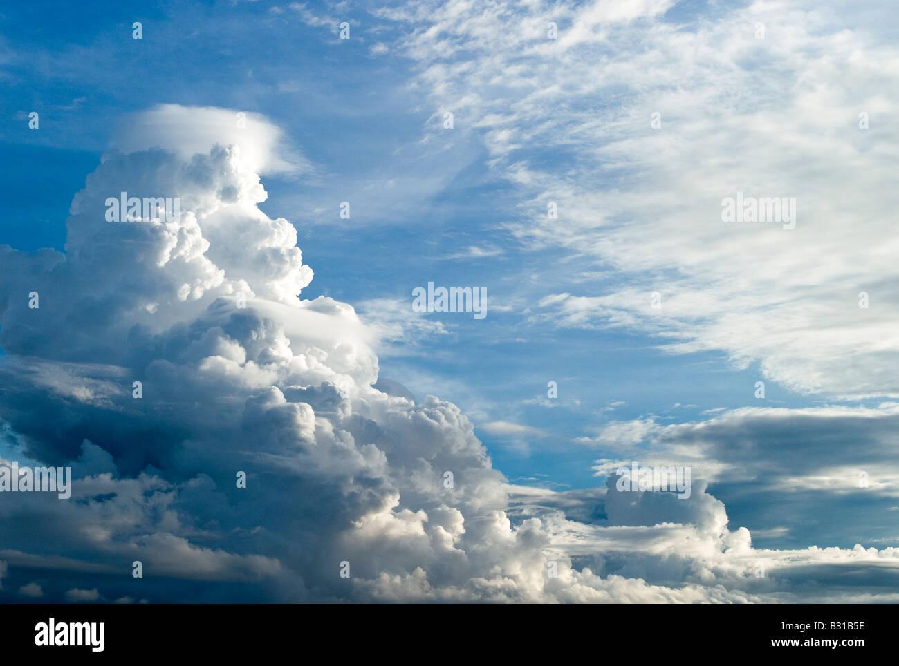 Borneo clouds on the Brunei coast - Stock Image