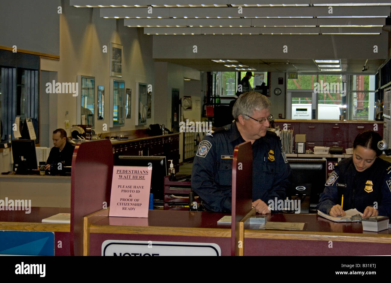 Port Of Entry Sumas Washington. - Stock Image
