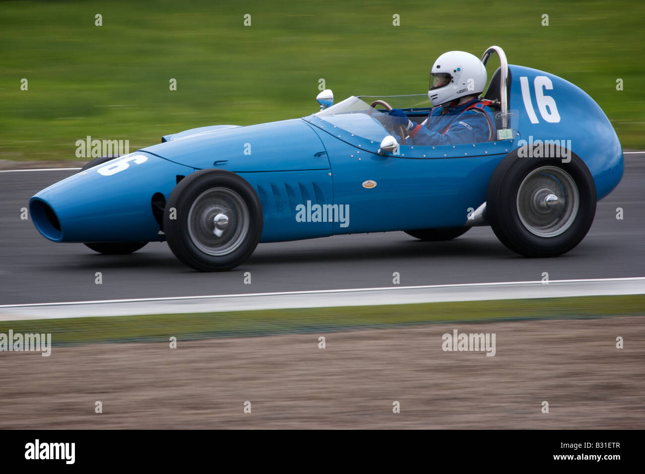Historic racing car at Knockhill race track in Fife. - Stock Image