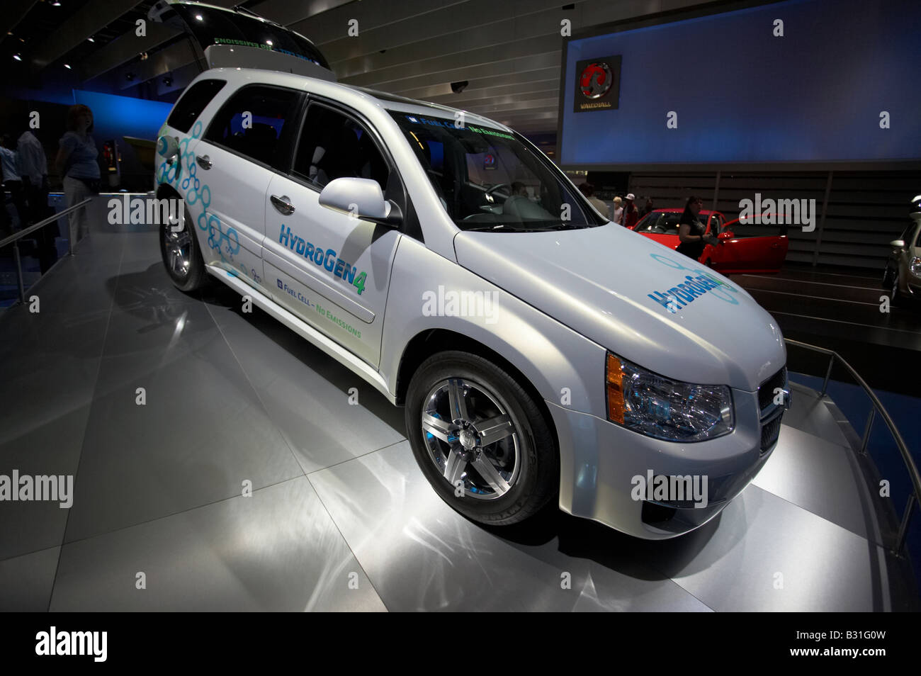 GM General Motors Chevy Equinox Fuel Cell SUV new hybrid off road car model vehicle at British International Motor - Stock Image
