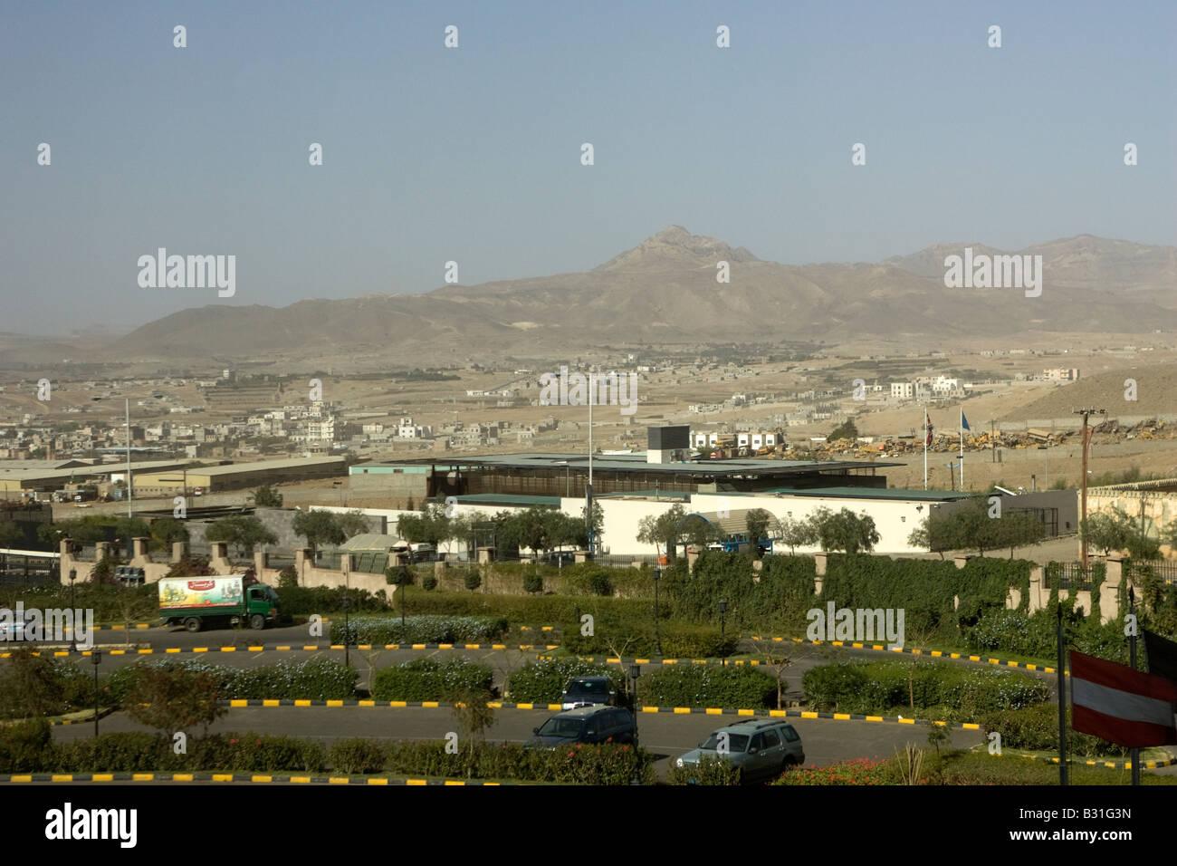 The British Embassy in Sanaa Yemen Middle East - Stock Image