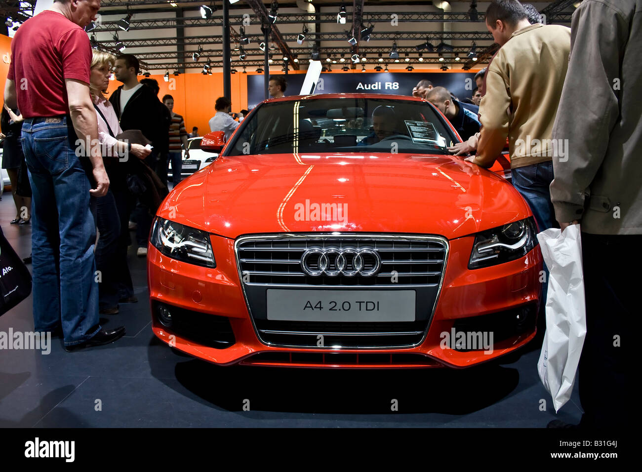 Audi A4 2,0 TDI at Zagreb Auto Show in Croatia from 28.3.2008. -  06. 04. 2008. - Stock Image