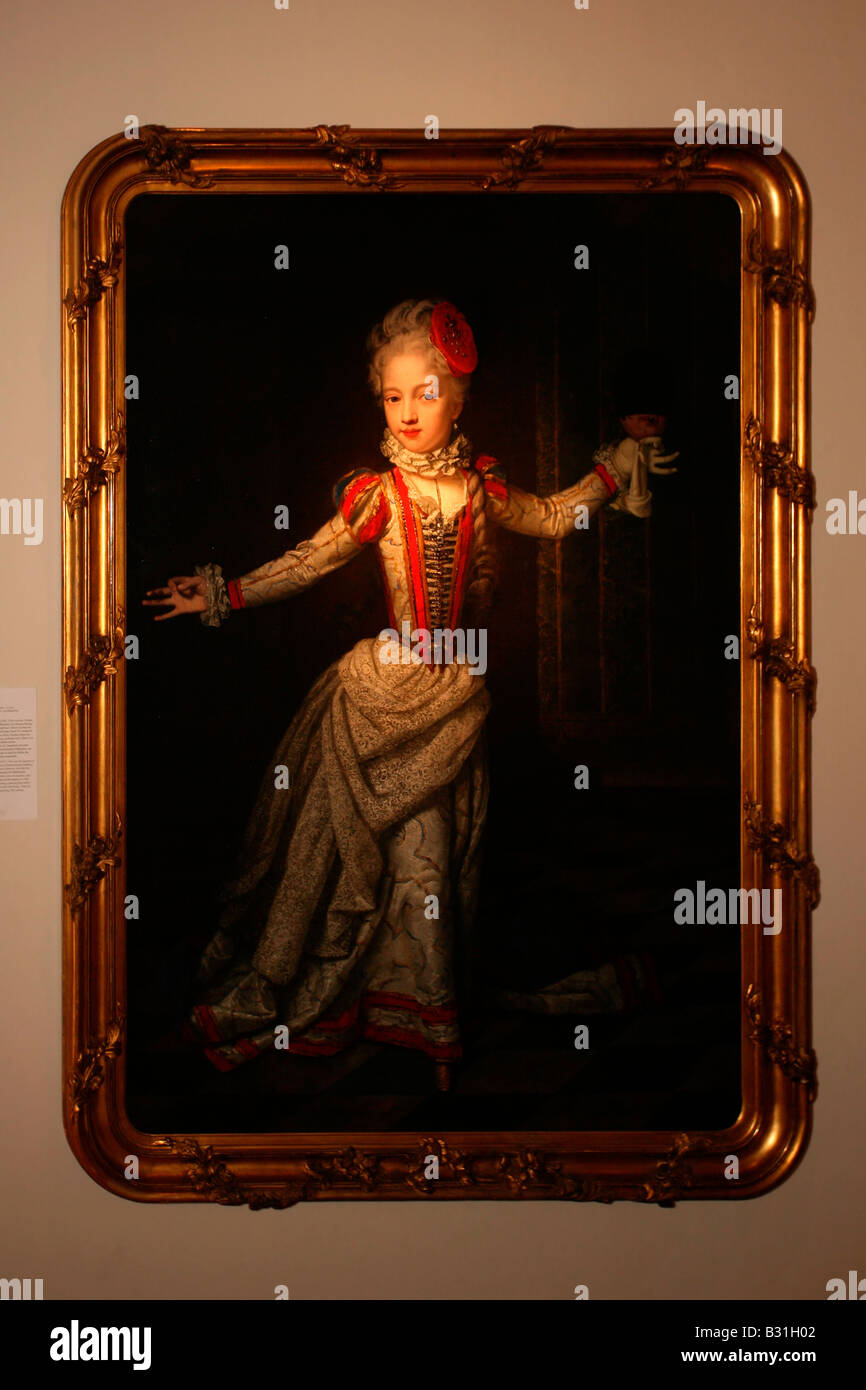 Innsbruck: Schloss Ambras: Habsburg Rulers Paintings - Stock Image