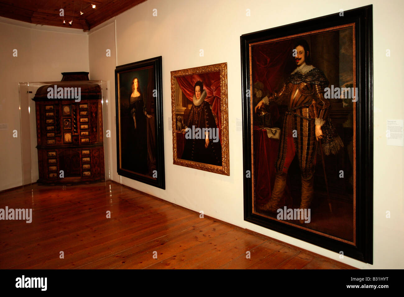 Innsbruck: Schloss Ambras: Paintings - Stock Image