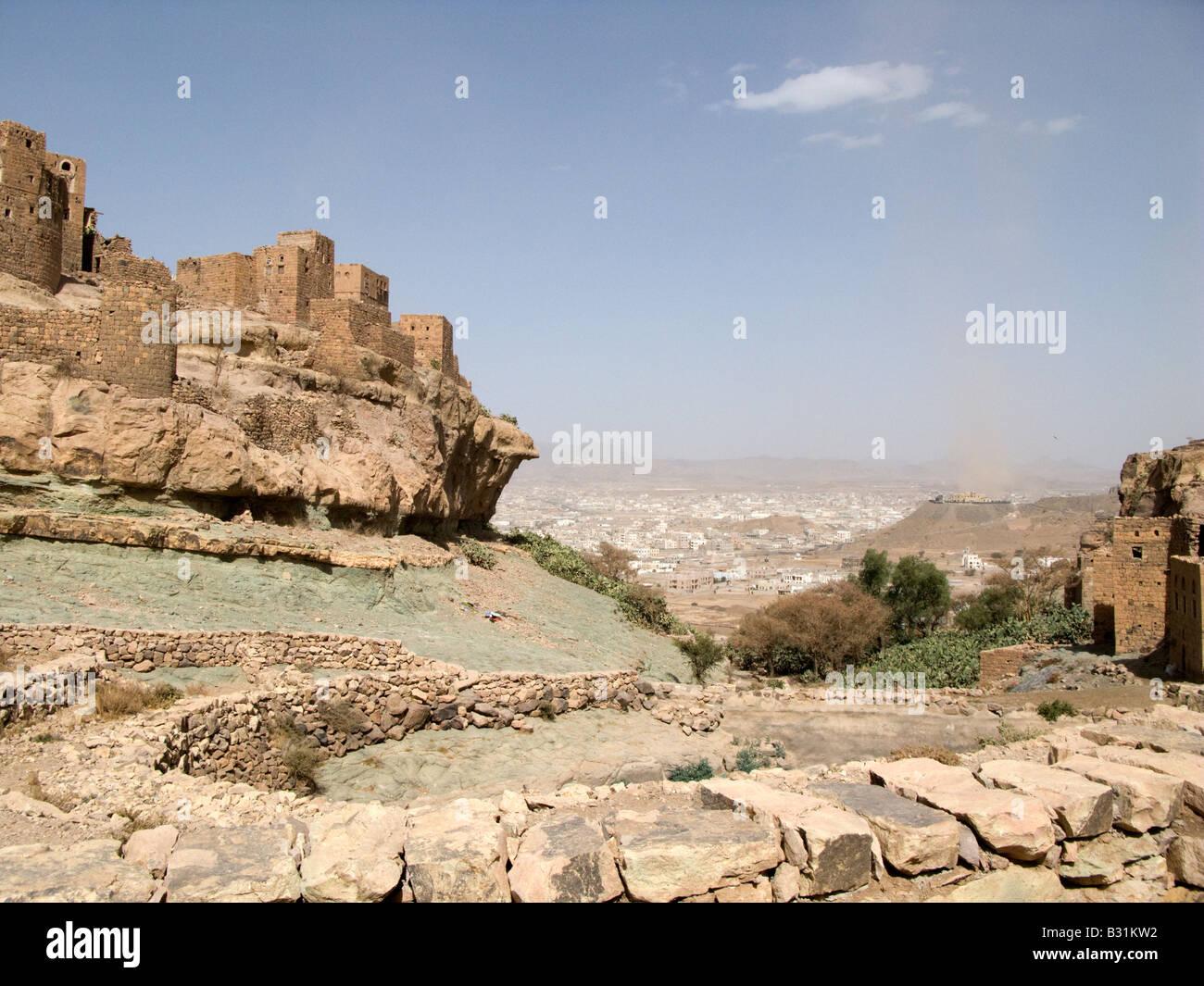 Bait Baus an old Jewish fortress village - Stock Image