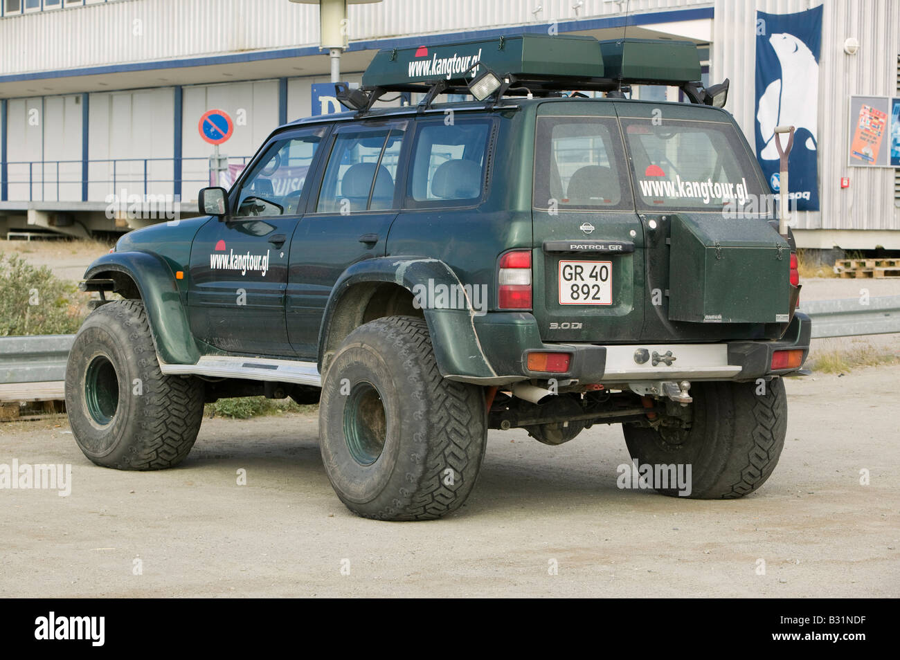 A Large Four Wheel Drive Vehicle At Kangerlussuaq In Greenland Stock Photo Alamy