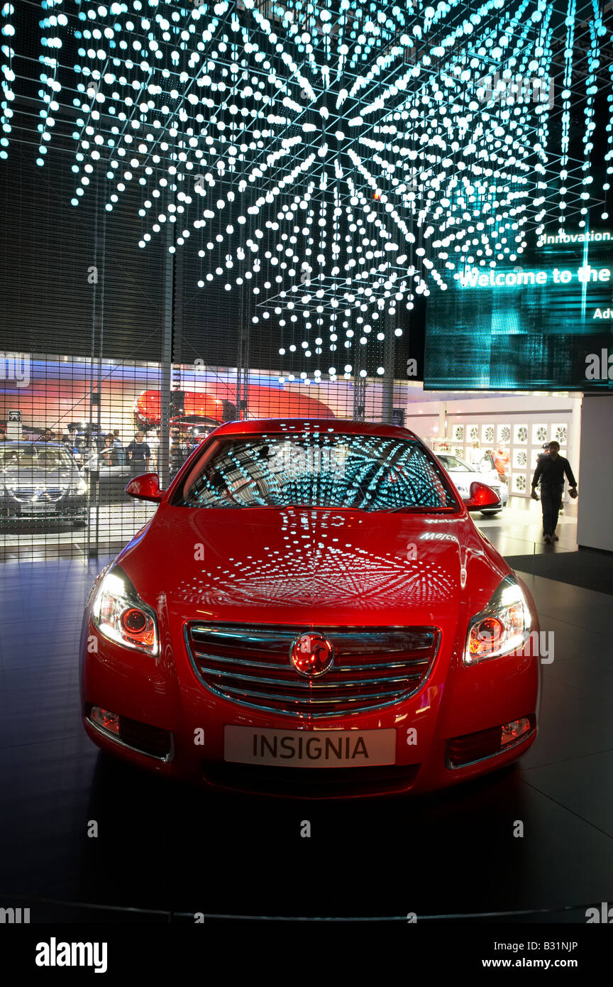 Vauxhall Insignia new car model at British International Motor Show at Excel centre in Docklands London England - Stock Image