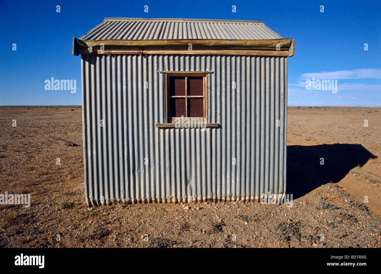 Corrugated iron tin hut Stock Photo