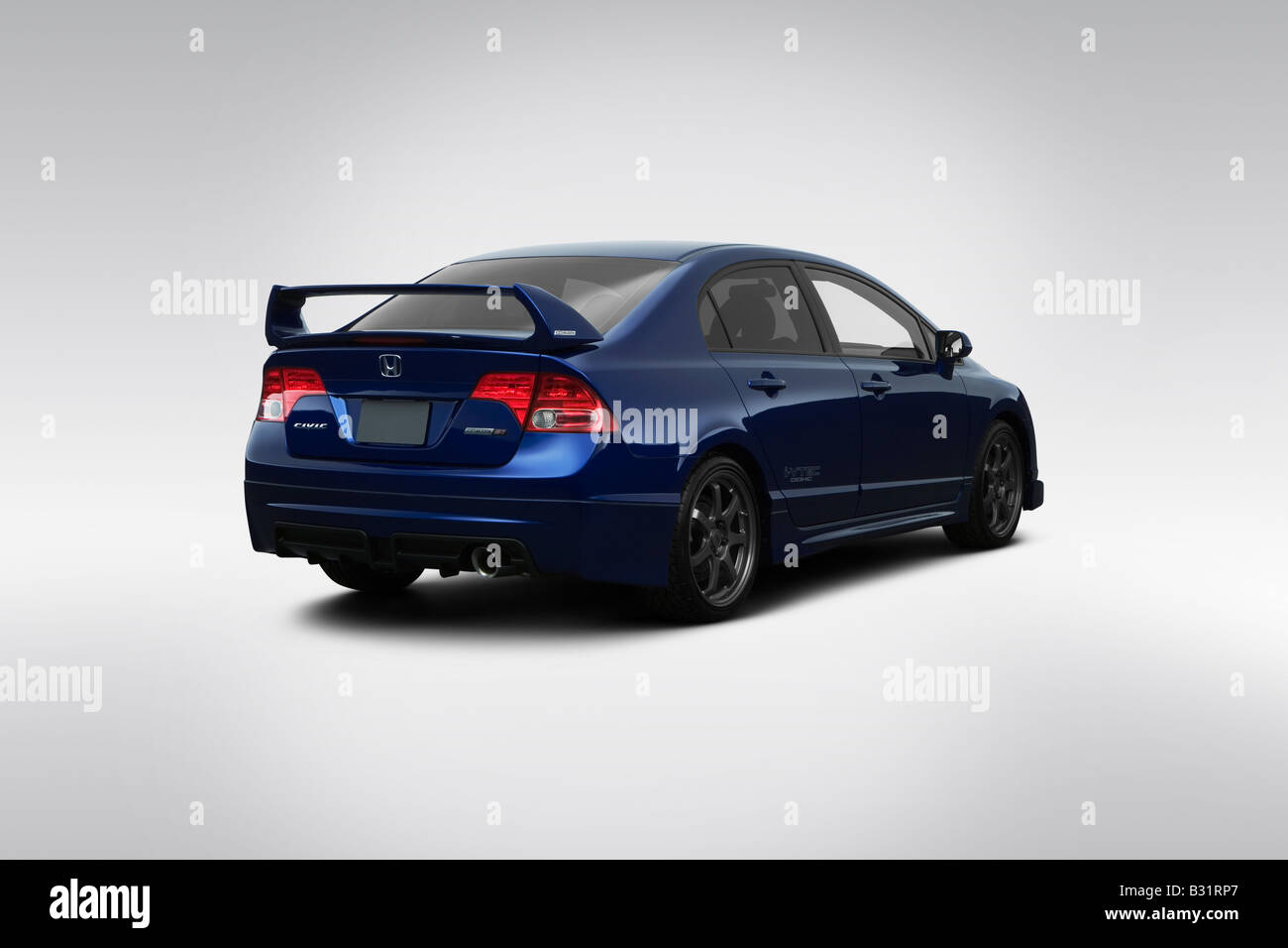 2008 Honda Civic SI Mugen In Blue   Rear Angle View
