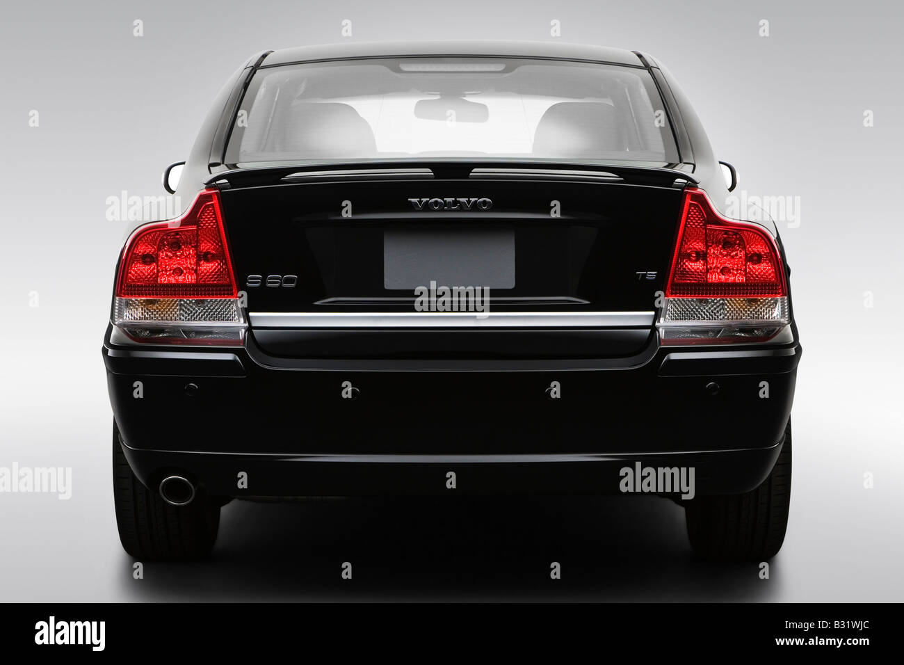 2008 Volvo S60 T5 A Sr In Black Low Wide Rear Stock Photo Alamy