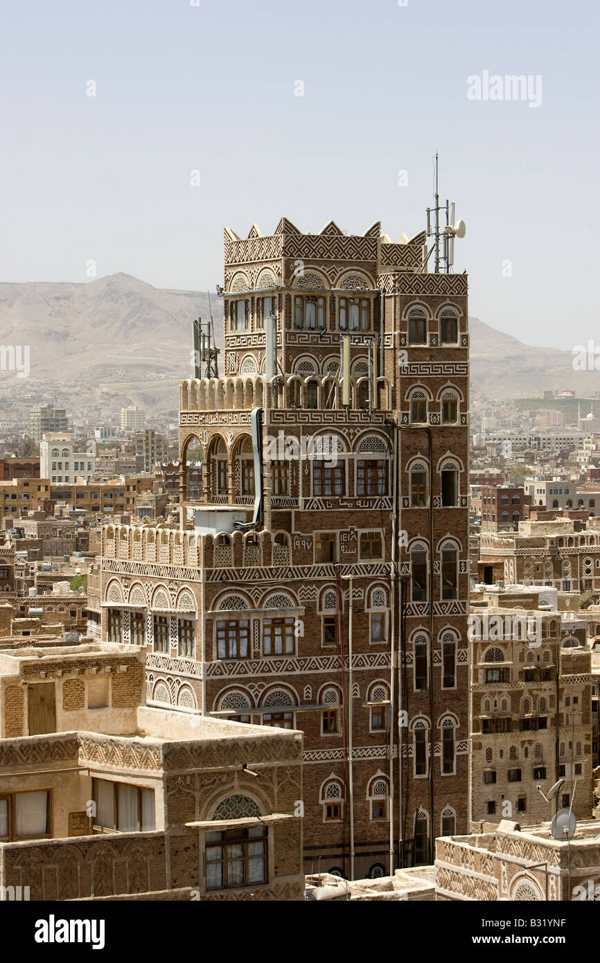 Sanaa the ancient capital city of Yemen - Stock Image