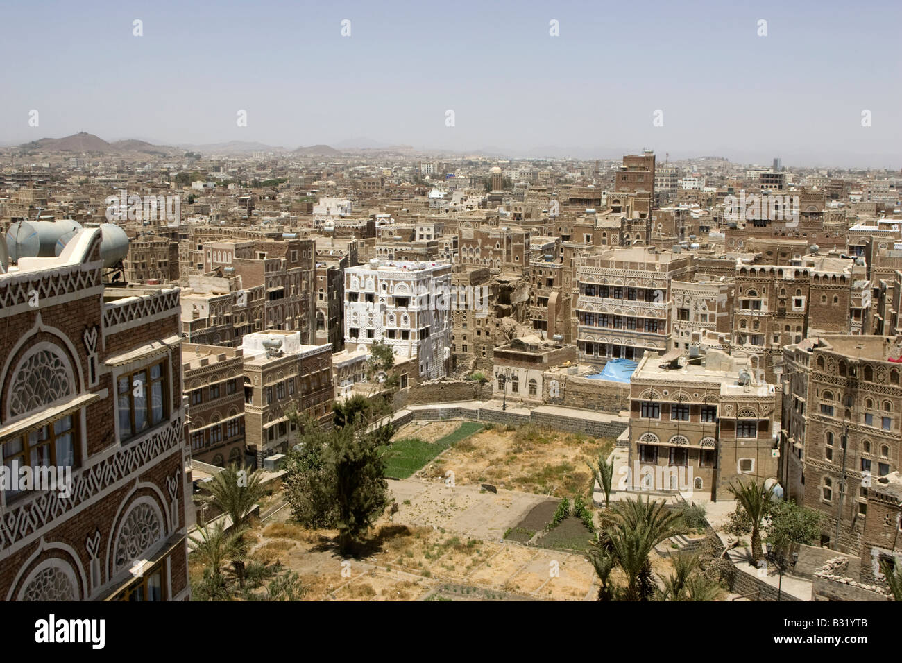 Sanaa the ancient capital city of Yemen Stock Photo