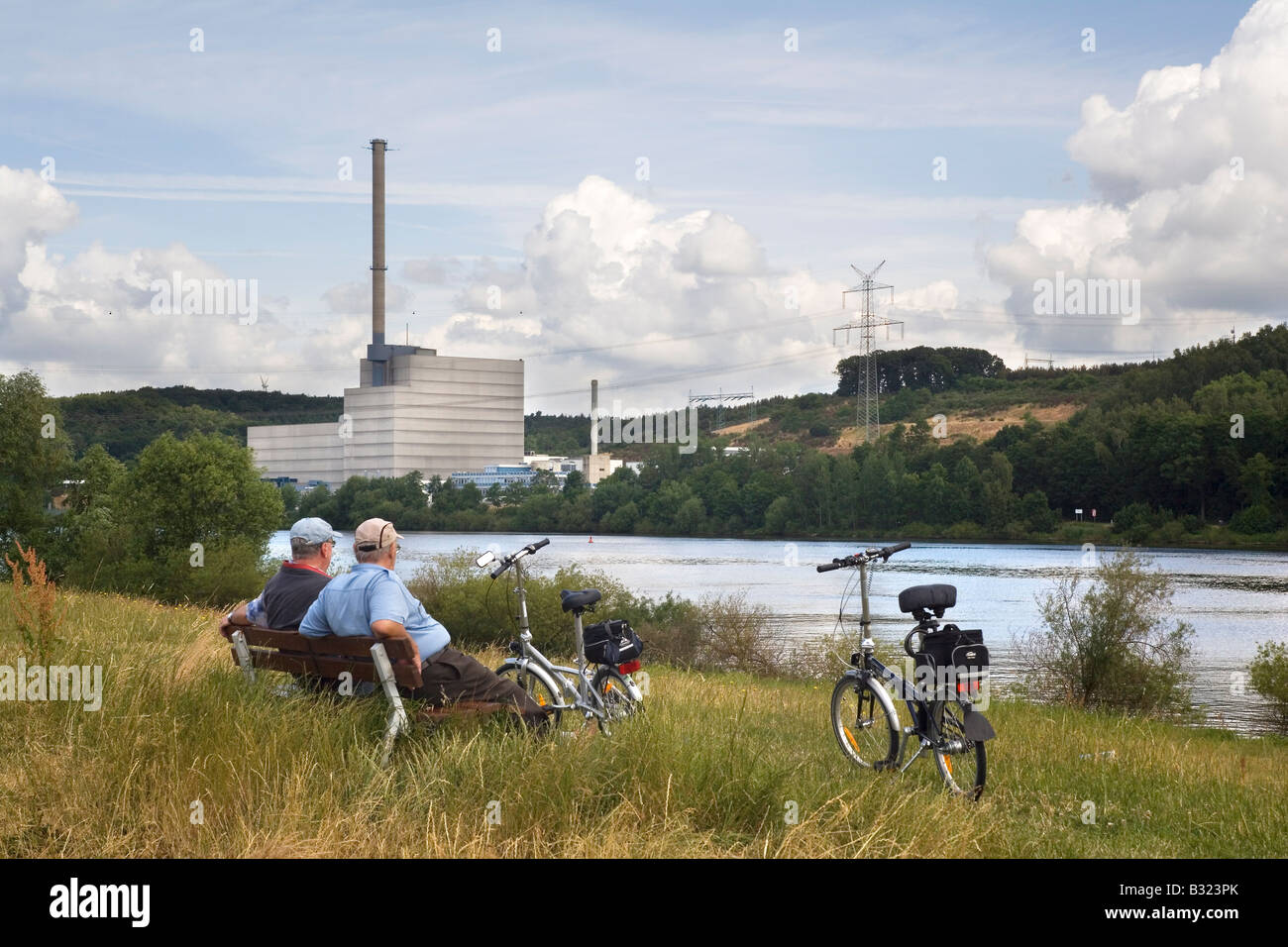 Nuclear power plant Kruemmel - Stock Image