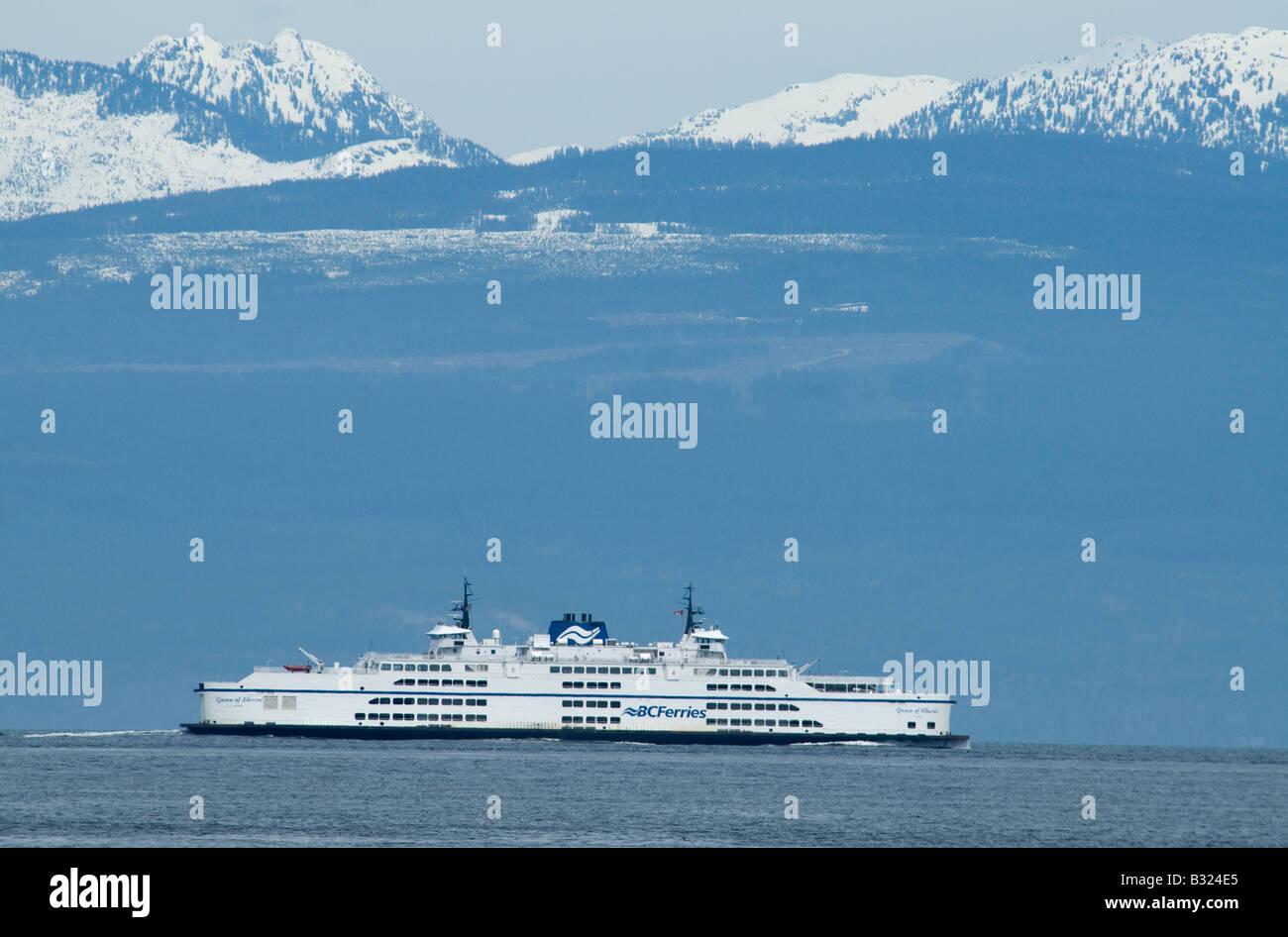 The BC Ferry Queen of Alberni crossing the Georgia Strait in British Columbia Canada North America - Stock Image