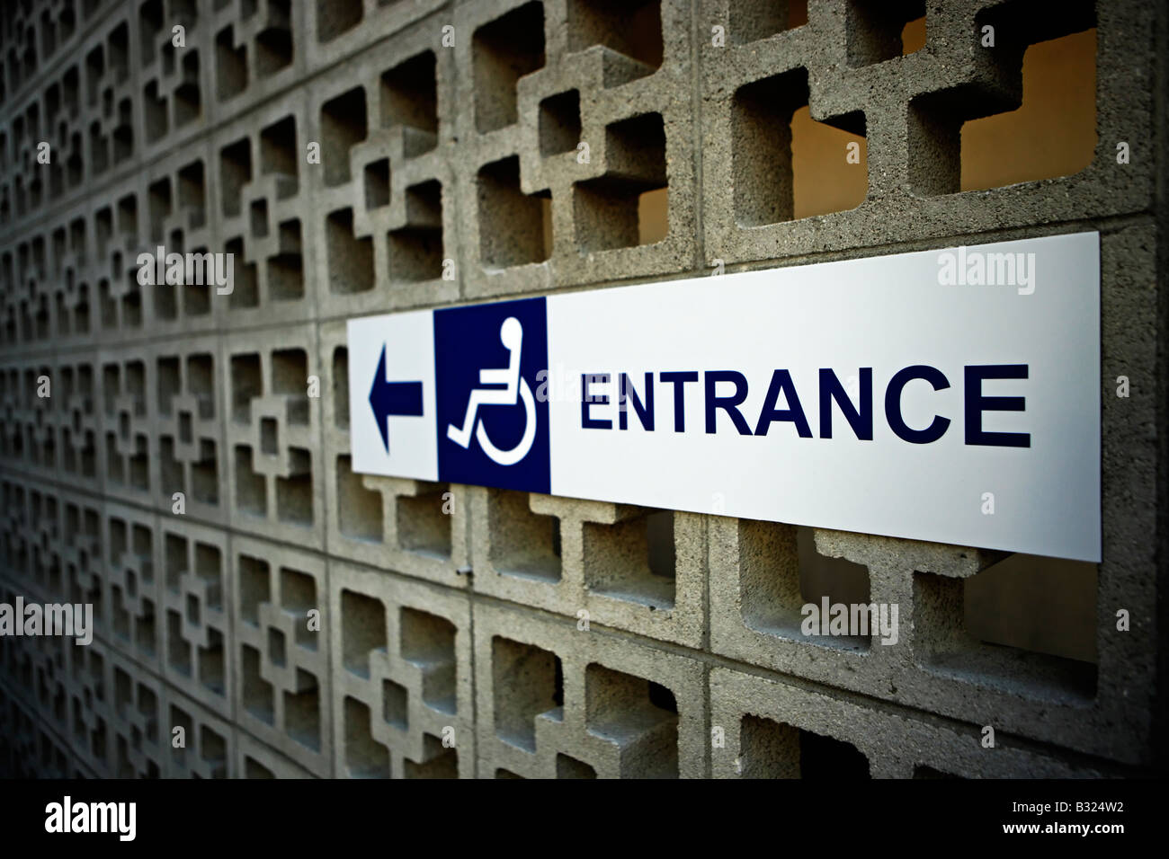 Disabled access Urban landscape Palmerston North New Zealand - Stock Image