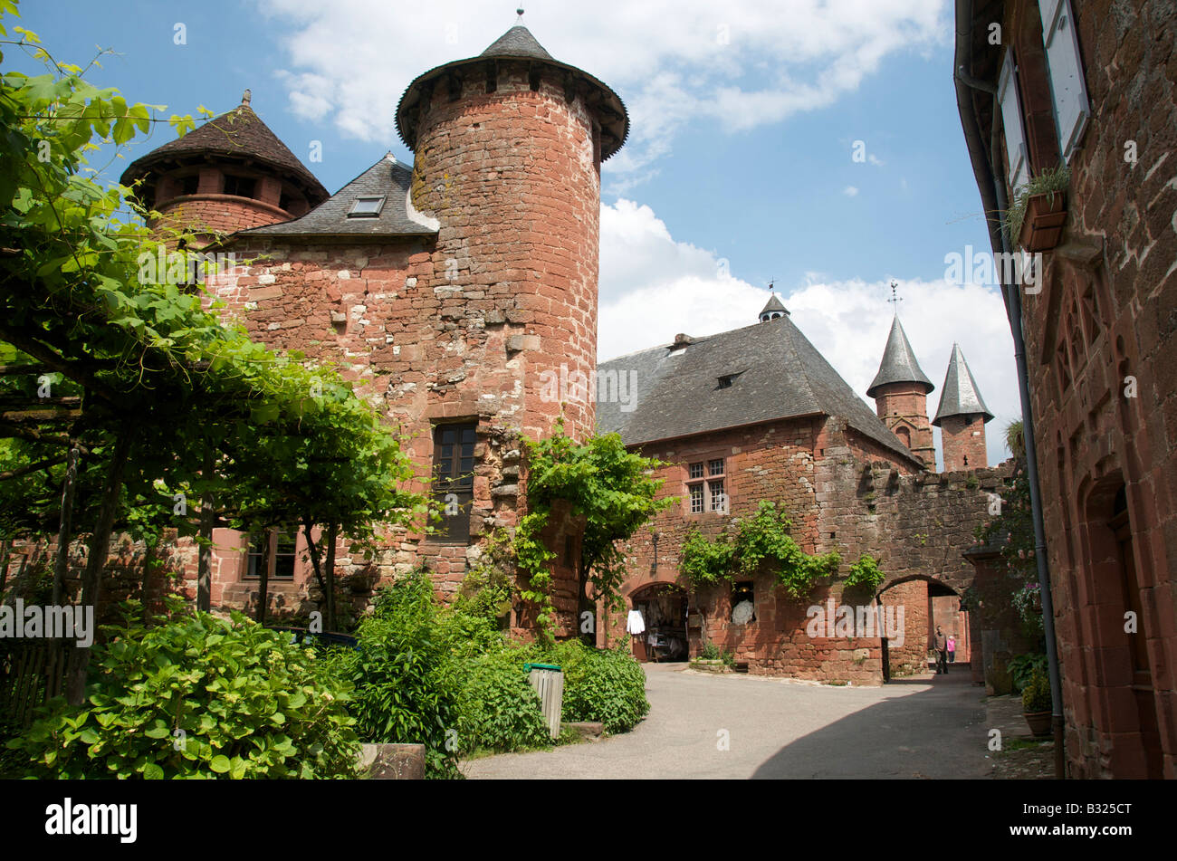 Limousin - Village of Collonges-la-Rouge, Département Corrèze, Region Limousin, France - Stock Image