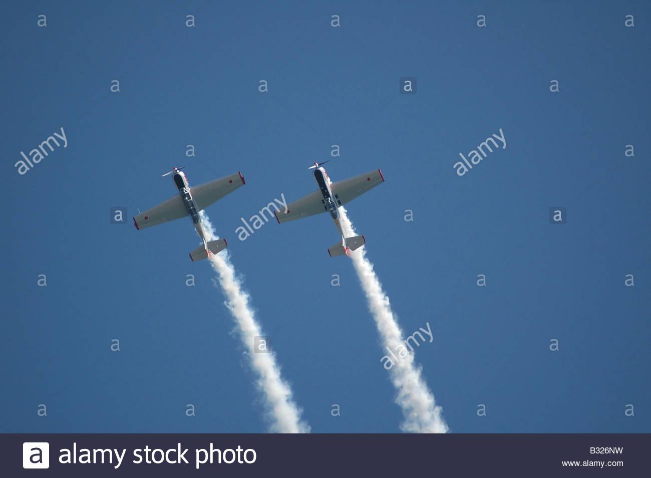 Yakovlevs Aerobatic display team - Stock Image