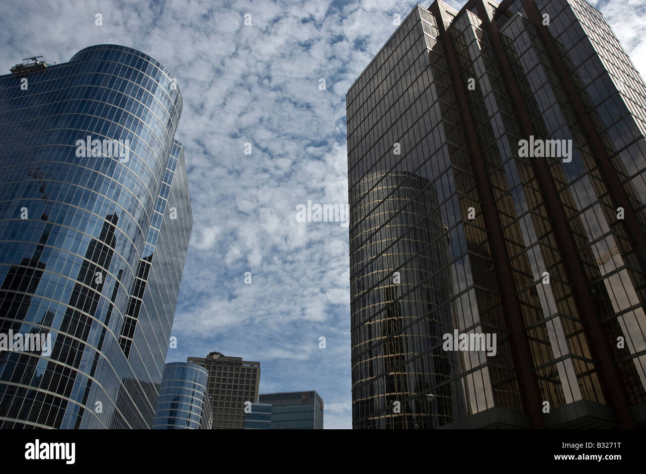 Downtown hi-rise buildings in Vancouver. - Stock Image