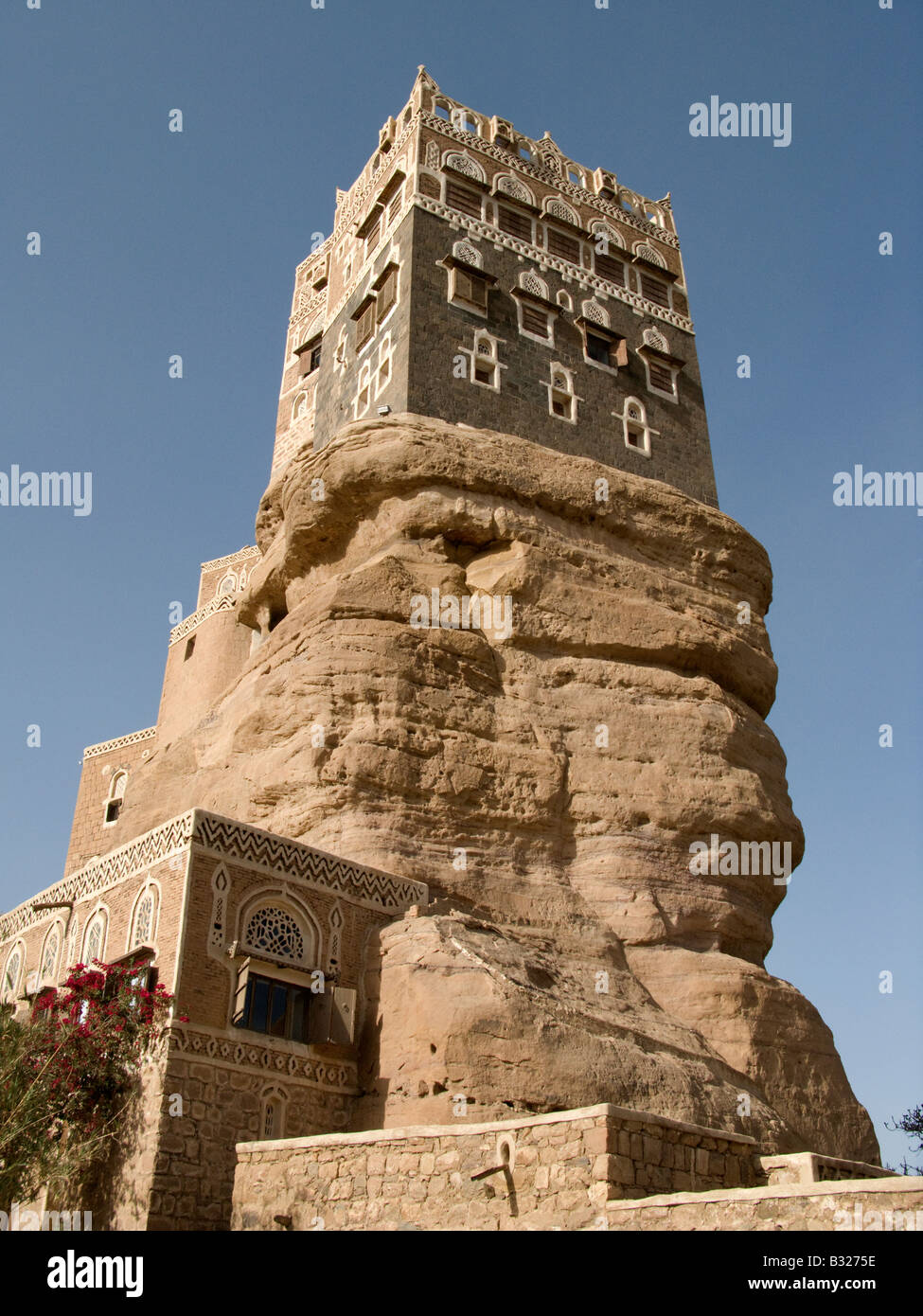 Rock Palace of Imam Yahya of Yemen - Stock Image