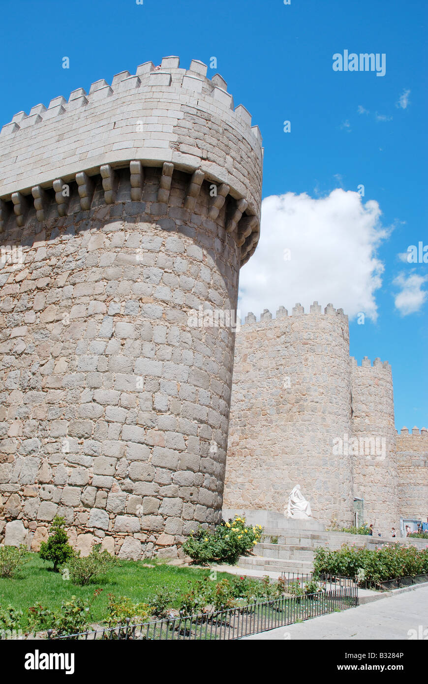 Murallas. Avila. Castile Leon. Spain. - Stock Image