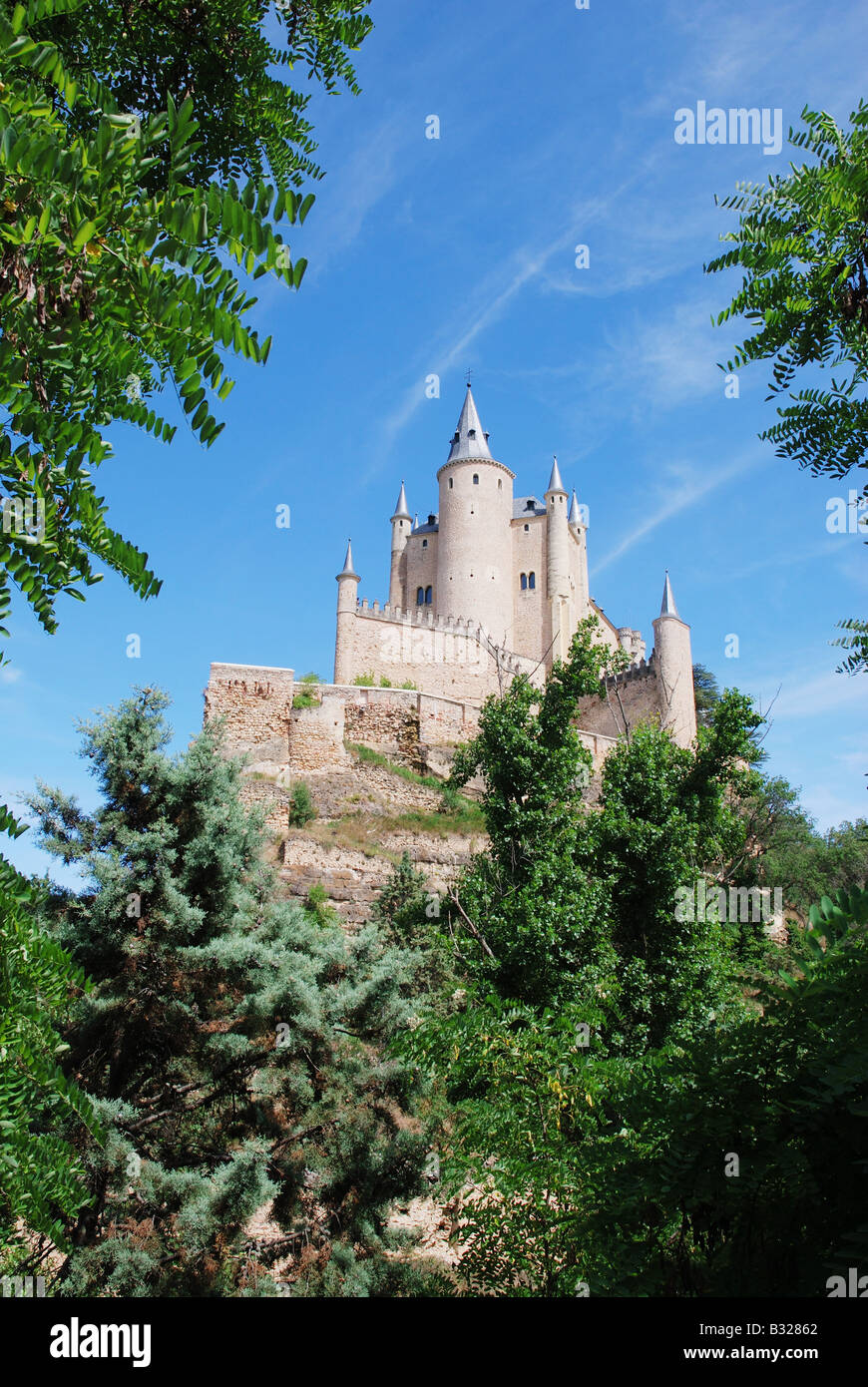 The Alcazar. Segovia. Castile Leon. Spain. Stock Photo