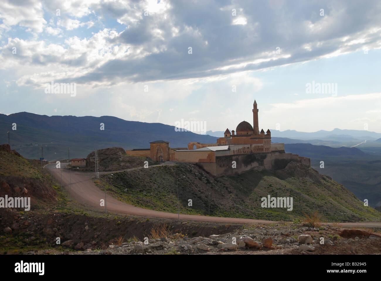 Ishak Pasa Palace in Turkey - Stock Image