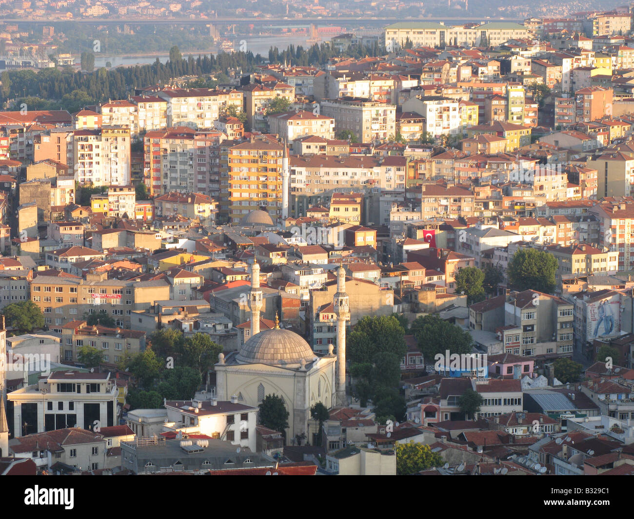 ISTANBUL, TURKEY. An early morning view over Tepebasi district from the Beyoglu district of the city. 2008. - Stock Image